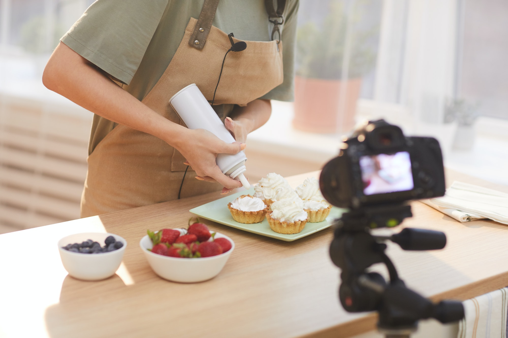 Culinary art on video